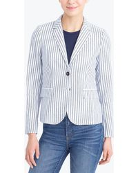 J.Crew - Striped Blazer - Lyst