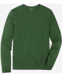 J.Crew - Long-sleeve Slub Cotton T-shirt - Lyst