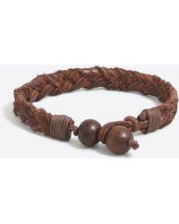 J.Crew - Leather Braided Bracelet - Lyst