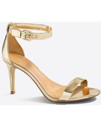 J.Crew - Metallic High-heel Sandals - Lyst