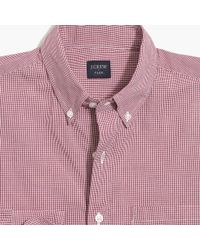 J.Crew - Flex Washed Shirt In Micro Gingham - Lyst