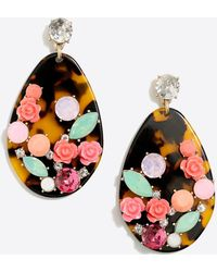 J.Crew - Tortoise Rose Garden Statement Earrings - Lyst