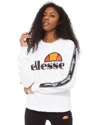 Ellesse | Tape Sleeve Crew Sweatshirt | Lyst