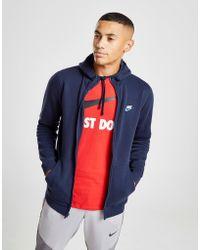 2aa16fc6fd Lyst - Nike Foundation Half Zip Hoody in Blue for Men