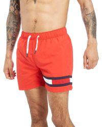 Tommy Hilfiger - Leg Flag Swim Shorts - Lyst