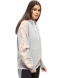 adidas Originals - Linear Half Zip Hoodie - Lyst