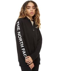 The North Face - Logo 1/4 Zip Hoodie - Lyst
