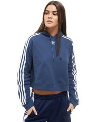 adidas Originals - Cropped California Hoodie - Lyst