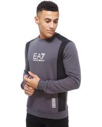 EA7 - Colour Block Crew Neck Sweatshirt - Lyst