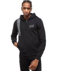 EA7 - 7 Stripes Zip Hoodie - Lyst