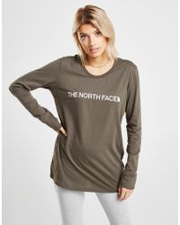 The North Face - Embroidered Logo Long Sleeve T-shirt - Lyst
