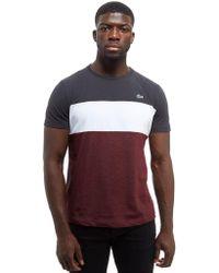 Lacoste - Colorblock T-shirt - Lyst