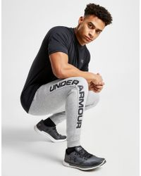Under Armour - Rival Fleece Script Joggers - Lyst