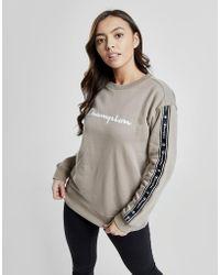 Champion - Tape Script Crew Sweatshirt - Lyst