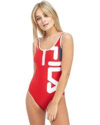 Fila - Zip Swimsuit - Lyst