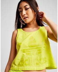 adidas Originals - Washed Crop Vest Top - Lyst