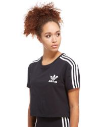 adidas Originals - Crop California T-shirt - Lyst