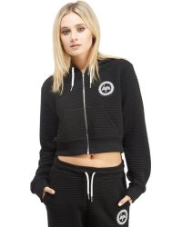 Hype - Crop Full Zip Hoody - Lyst