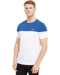 Lacoste - Upper Panel T-shirt - Lyst