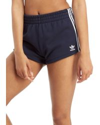 adidas Originals - 3-stripes Terry Shorts - Lyst