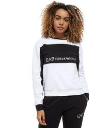 EA7 - Panel Crew Sweatshirt - Lyst