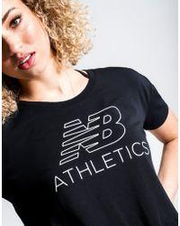 New Balance - Athletics Cropped T-shirt - Lyst