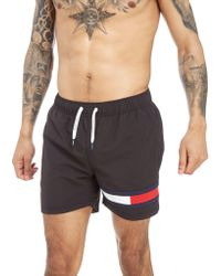 Tommy Hilfiger - Flag Logo Swim Shorts - Lyst