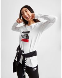The North Face - Box Logo Long Sleeve T-shirt - Lyst