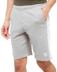 adidas Originals - 3-stripes Fleece Shorts - Lyst
