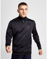 Farah - 1/4 Zip Fleece Track Top - Lyst