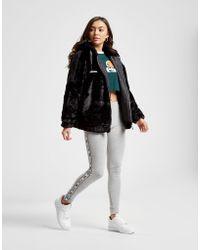 Ellesse - Faux Fur Full Zip Hooded Jacket - Lyst