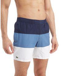 Lacoste - Colour Block Swim Shorts - Lyst