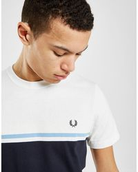 2e142e58f1c8 Fred Perry Plain Crew Neck T-shirt in White for Men - Lyst