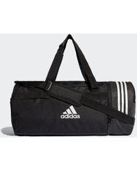 fa0108b30d43 adidas - Convertible 3-stripes Duffel Bag Medium - Lyst