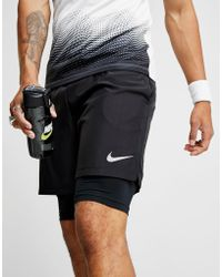 """Nike - 7"""" Challenger 2 In 1 Shorts - Lyst"""
