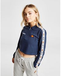 Ellesse Tape Long Sleeve Crop Polo Shirt