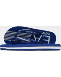 EA7 - Sea World Flip Flops - Lyst