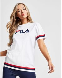 Fila - Stripe Boyfriend T-shirt - Lyst