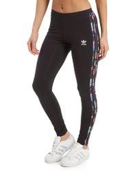 adidas Originals - 3-stripes Floral Infill Leggings - Lyst