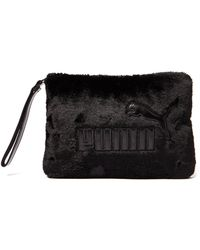 PUMA - Faux Fur Clutch - Lyst