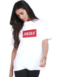 SIKSILK - Short Sleeve Box Logo T-shirt - Lyst