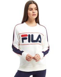 Fila - Logo Crew Sweatshirt - Lyst