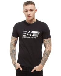 EA7 - Visibility Large Logo T-shirt - Lyst