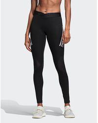1bf50d863d2ee adidas Originals - Alphaskin Sport 3-stripes Long Leggings - Lyst