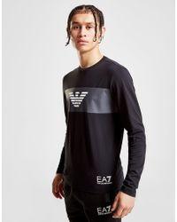 EA7 - Eagle Strip Long Sleeve T-shirt - Lyst