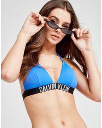 CALVIN KLEIN 205W39NYC - Tape Triangle Bikini Top - Lyst