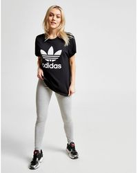 b7a4c10a360 adidas Originals - Originals Adicolor Trefoil Oversized T-shirt In Black -  Lyst