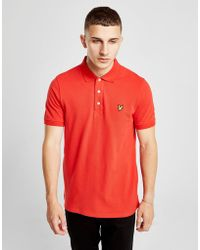 Lyle & Scott - Lyle And Scott Short Sleeved Polo T Shirt Red - Lyst