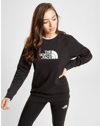 The North Face - Tipped Logo Crew Sweatshirt - Lyst