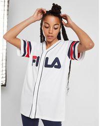 Fila - Stripe Baseball T-shirt - Lyst